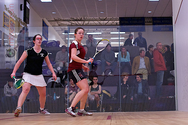 2012 NESCAC Championships: Myriam Kelly (Bates) and Alden Drake (Bowdoin)