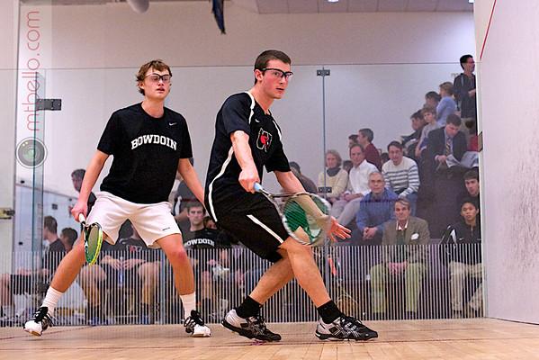 2012 NESCAC Championships: Ethan Moritz (Wesleyan) and William Winmill (Bowdoin)