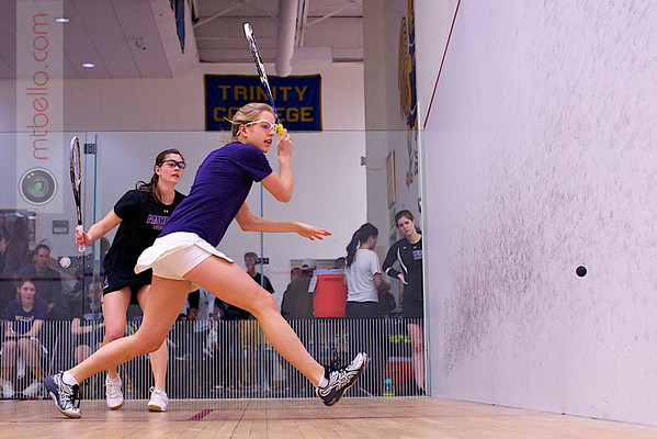 2012 NESCAC Championships: Lena Rice (Amherst) and Carolyn Kaemmer (Williams)