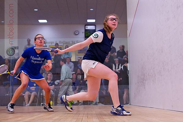 2012 NESCAC Championships: Molly Hubbard (Middlebury) and Kelsey Bogle (Hamilton)