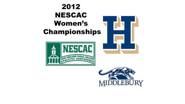 2012 NESCAC Women's Championships: #2s - Abigail Jenkins (Middlebury) and Hilary Gray (Hamilton)