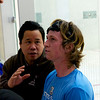 2012 Pioneer Valley Invitational: Henry Miller (Tufts) and coach Doug Eng