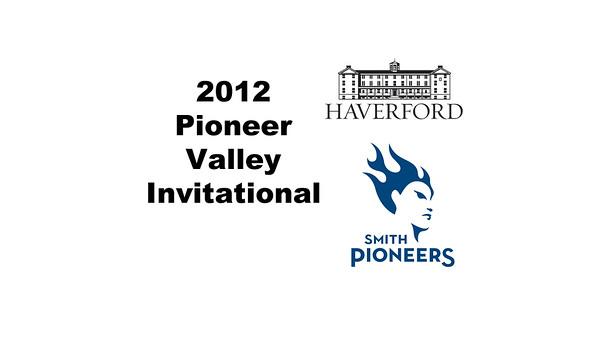 2012 Pioneer Valley Invitational: #2s - Jennifer Krain (Smith) and Kira Jones (Haverford)