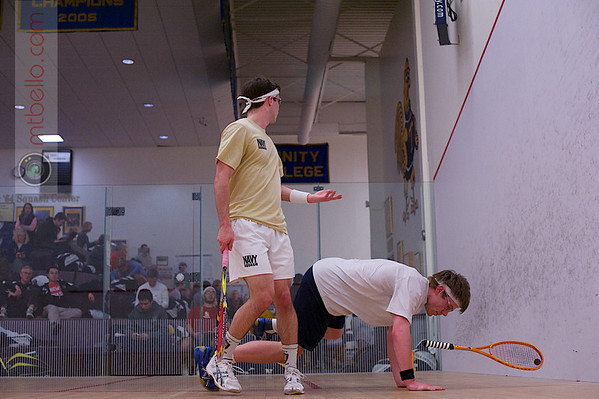 2013 College Squash Individual Championships: Blake Reinson (Brown) and James Kacergis (Navy)