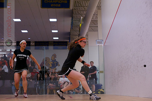 2013 College Squash Individual Championships: Kerrie Sample (Stanford) and Rachel Leizman (Princeton)