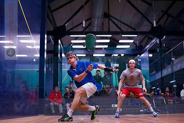 2013 College Squash Individual Championships: Nicholas Sachvie (Cornell) and Mauricio Sedano (Franklin & Marshall)