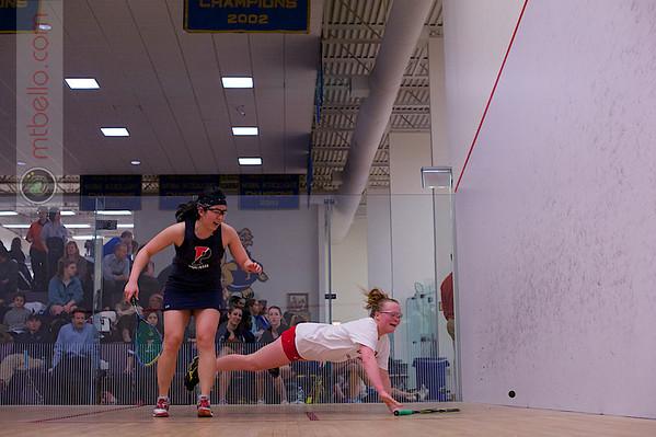 2013 College Squash Individual Championships: Rachael Goh (Penn) and Jaime Laird (Cornell)
