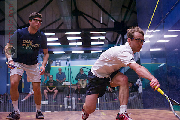 2013 College Squash Individual Championships: Richard Dodd (Yale) and Omar Sobhy (George Washington)