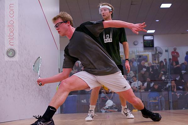 2013 College Squash Individual Championships: Robert Maycock (Dartmouth) and Jay Dolan (Middlebury)