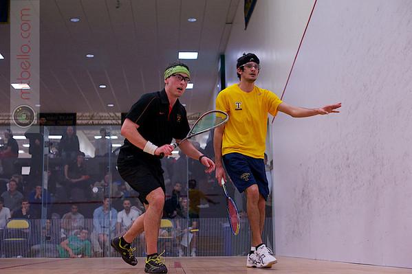 2013 College Squash Individual Championships: Tyler Osborne (Princeton) and Karan Malik (Trinity)