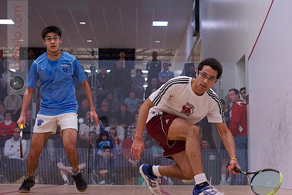 2013 College Squash Individual Championships: Ahmed Abdel Khalek (Bates) and Ramit Tandon (Columbia)
