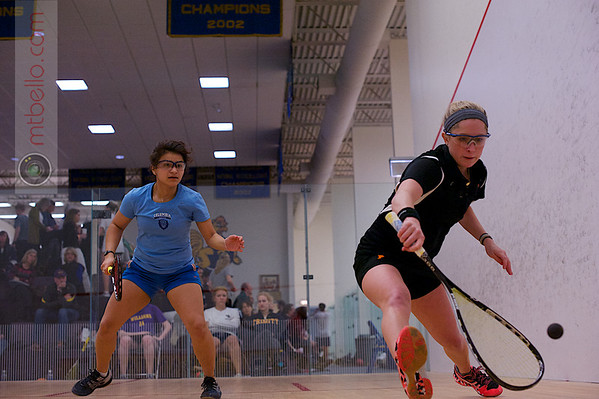2013 College Squash Individual Championships: Alexis Saunders (Princeton) and Reyna Pacheco (Columbia)