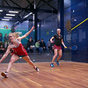 2013 College Squash Individual Championships: Amanda Sobhy (Harvard) and Danielle Letourneau (Cornell)