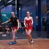 2013 College Squash Individual Championships: Amanda Sobhy (Harvard) and Danielle Letourneau (Cornell)