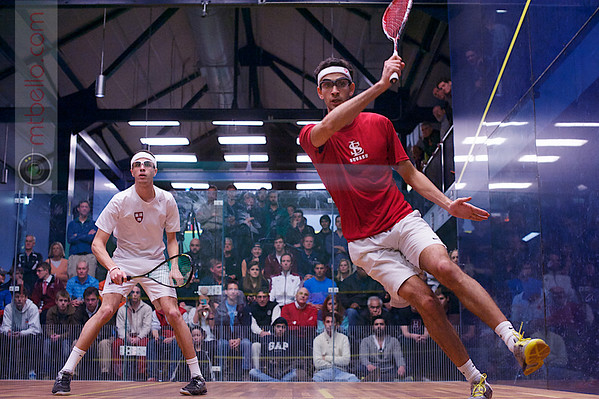 2013 College Squash Individual Championships: Amr Khaled Khalifa (St. Lawrence) and Ali Farag (Harvard)  Published on page 43-43 of Squash Magazine (March/April 2013)