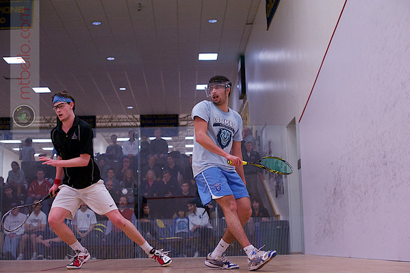 2013 College Squash Individual Championships: Noah Browne (Amhehst) and Mohamed Abdel Maksoud (Columbia)