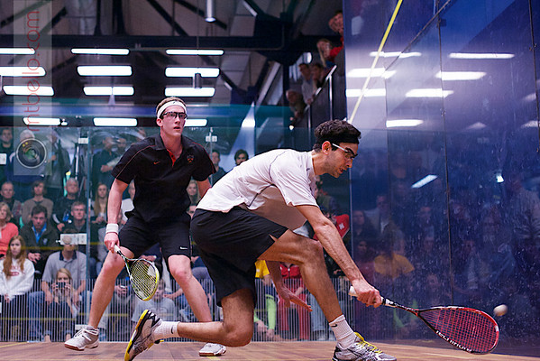 2013 College Squash Individual Championships: Amr Khaled Khalifa(St. Lawrence) and Todd Harrity (Princeton)<br /> <br /> Published on page 24 of Squash Magazine (December 2013)