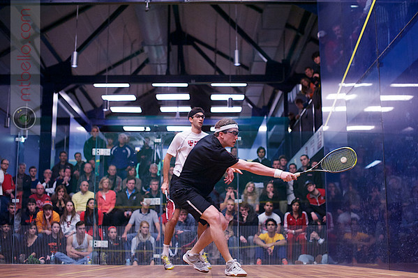 2013 College Squash Individual Championships: Amr Khaled Khalifa	(St. Lawrence) and Todd Harrity (Princeton)<br /> <br /> Published on page 40-41 of Squash Magazine (March/April 2013)