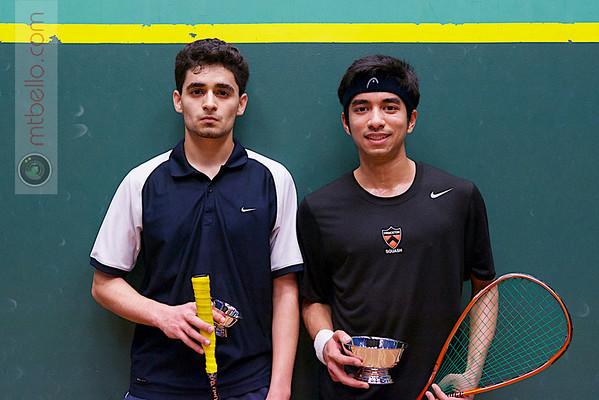 2013 College Squash Individual Championships: Samuel Kang (Princeton) and Faraz Khan (Rochester)
