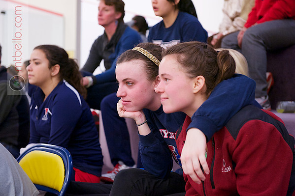 2013 College Squash Individual Championships: Madeleine Gill (Stanford) and Courtney Jones (Penn)