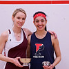 2013 College Squash Individual Championships: Michelle Gemmell (Harvard) and Pia Trikha (Penn)