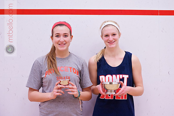 2013 College Squash Individual Championships: Chloe Blacker (Penn) and Tara Harrington (Princeton)