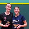 2013 College Squash Individual Championships: Catalina Pelaez (Trinity) and Haley Mendez (Harvard)