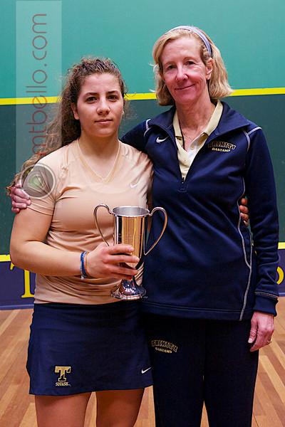 2013 College Squash Individual Championships: Wendy Bartlett and Kanzy El Defrawy (Trinity)