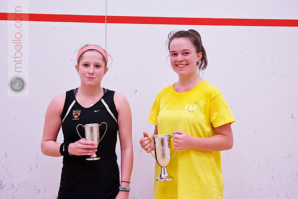 2013 College Squash Individual Championships: Madeleine Gill (Stanford) and Alexis Saunders (Princeton)