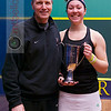 2013 College Squash Individual Championships: Amanda Sobhy (Harvard) and Mike Way