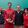 2013 College Squash Individual Championships: John Bursnall, Amr Khaled Khalifa (St. Lawrence), Chris Abplanalp, and Pamela Jimenez Larromana