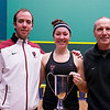 2013 College Squash Individual Championships: Reg Schonborn, Amanda Sobhy (Harvard), and Mike Way