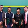 2013 College Squash Individual Championships: Martin Heath, Bob Callahan, Samuel Kang (Princeton) and Faraz Khan (Rochester)