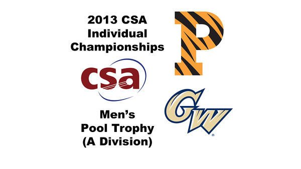 2013 College Squash Individual Championships - Pool Trophy - Round of 32: Todd Harrity (Princeton) and Omar Sobhy (George Washington)