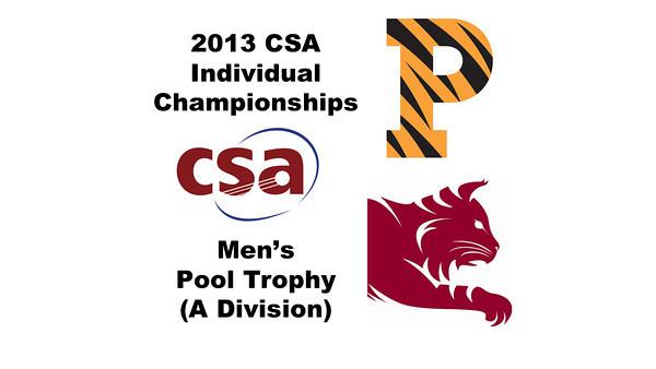 2013 College Squash Individual Championships - Pool Trophy - Semis: Todd Harrity (Princeton) and Ahmed Abdel Khalek (Bates)