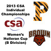 2013 College Squash Individual Championships - Holleran Cup - Cons 1:  Tara Harrington (Princeton) and Mina Shakarshy (Brown)