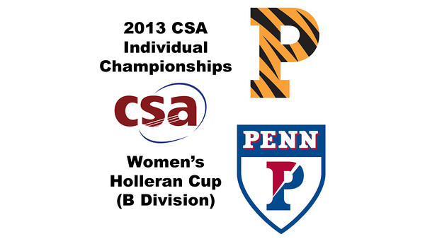 2013 College Squash Individual Championships - Holleran Cup - Round of 16: Alexandra Sawin (Princeton) and Courtney Jones (Penn)