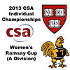 2013 College Squash Individual Championships - Ramsay Cup - Finals: Amanda Sobhy (Harvard) and Kanzy El Defrawy (Trinity)
