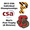 2013 College Squash Individual Championships - Pool Trophy - Quarters: Todd Harrity (Princeton) and Nicholas Sachvie (Cornell)