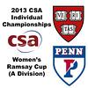 2013 College Squash Individual Championships - Ramsay Cup - Semis: Amanda Sobhy (Harvard) and Yan Xin Tan (Penn)