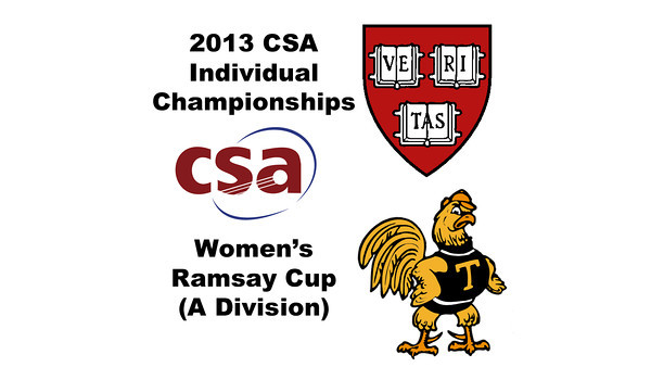 2013 College Squash Individual Championships - Ramsay Cup - Round of 32: Laura Gemmell (Harvard) and	Natalie Babjukova (Trinity)