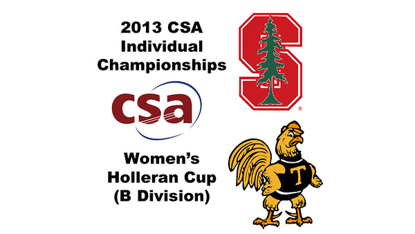 2013 College Squash Individual Championships - Holleran Cup - Quarters: Madeleine Gill (Stanford) and Jennifer Pelletier (Trinity)