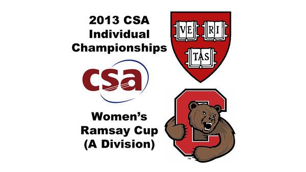 2013 College Squash Individual Championships - Ramsay Cup - Quarters: Amanda Sobhy (Harvard) and Danielle Letourneau (Cornell)