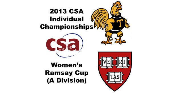 2013 College Squash Individual Championships - Ramsay Cup - Con Finals: Catalina Pelaez (Trinity) and Haley Mendez (Harvard)