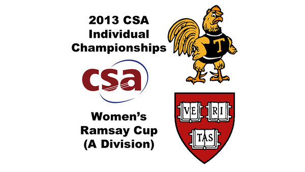 2013 College Squash Individual Championships - Ramsay Cup - Quarters: Kanzy El Defrawy (Trinity) and Laura Gemmell (Harvard)