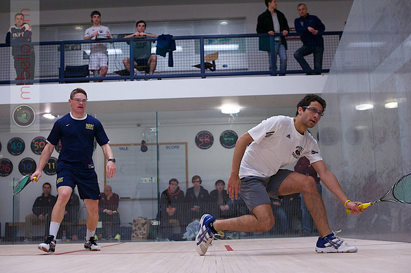 2013 Men's National Team Championships: Ahmed Abdel Khalek (Bates) and Andrew McGuinness (Navy)