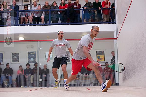 2013 Men's National Team Championships: Ibrahim Khan (St. Lawrence) and Aditiya Jagtap (Cornell)
