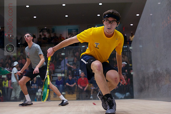 2013 Men's National Team Championships: Ali Farag (Harvard) and Reinhold Hergeth (Trinity)