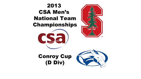 2013 Men's College Squash National Team Championships: Tyler Strand (Stanford) and Yuga Koda (Colby)