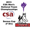 2013 Men's College Squash National Team Championships: Alex Schumann (NYU) Louie Sitwell (Northeastern)